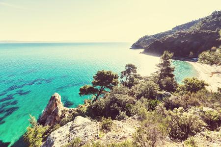 Greece: Beautiful rocky coastline in Greece