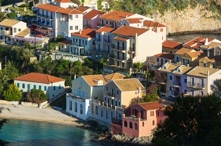 Assos village and beautiful sea bay, Kefalonia island, Greece photo