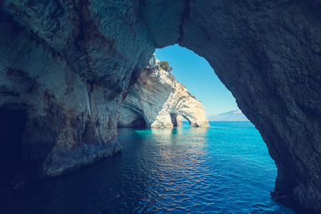 sea scenery: Beautiful sea landscapes on Zakynthos Island in Greece
