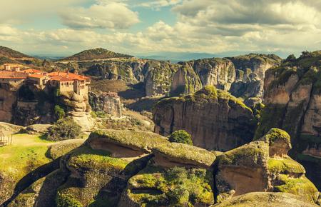 monasteri: Monasteri di Meteora in Grecia.
