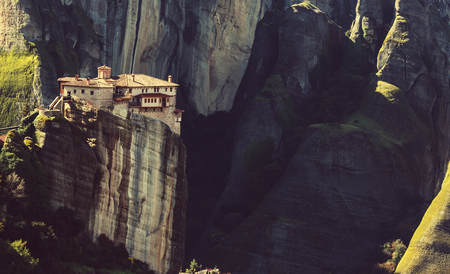 meteora: Meteora monasteries in Greece.
