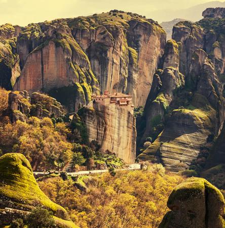 sacral: Meteora monasteries in Greece.