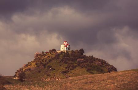 sacral: Little chapel in Greece Stock Photo