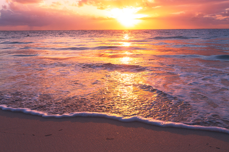 sea scenery: Sea sunset Stock Photo