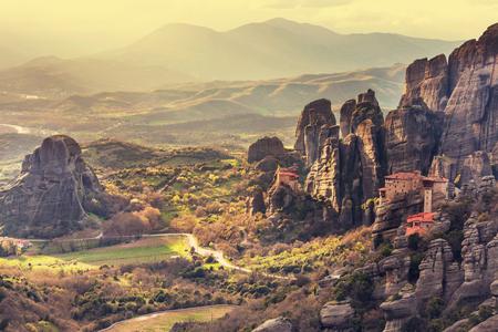 monasteries: Meteora monasteries in Greece.