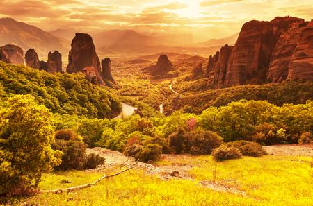paisagem: Mosteiros de Meteora, na Gr