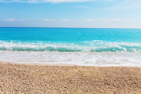 waves beach: Beautiful ocean beach