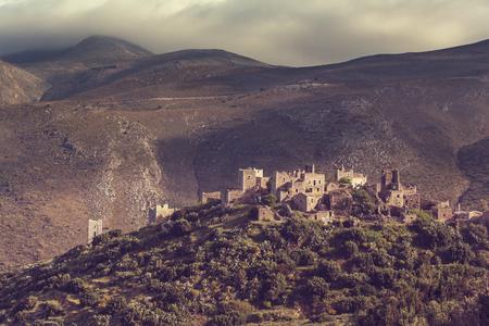 messenia: Old traditional  village of Vathia at Mani Greece
