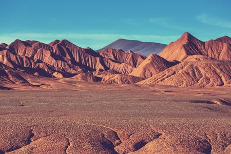Montaña Meseta de La Puna Norte de Argentina Foto de archivo
