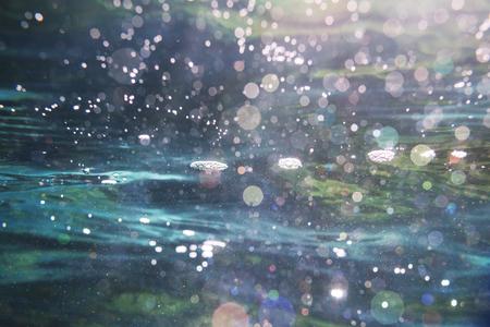 verano: Salpicaduras de agua Foto de archivo