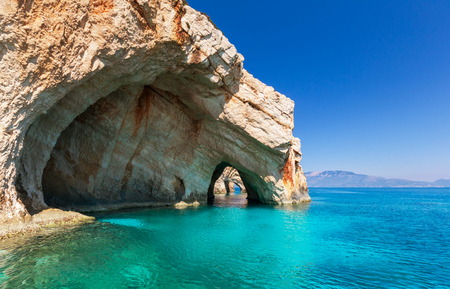 greece: Beautiful sea landscapes on Zakynthos Island in Greece