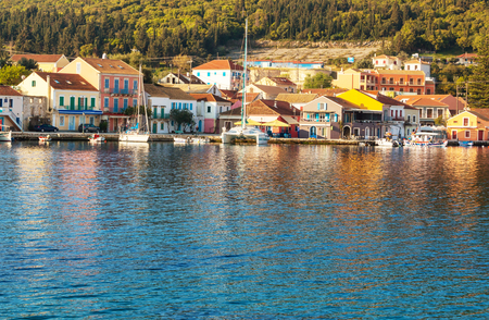 ionio: View of the greece town Stock Photo