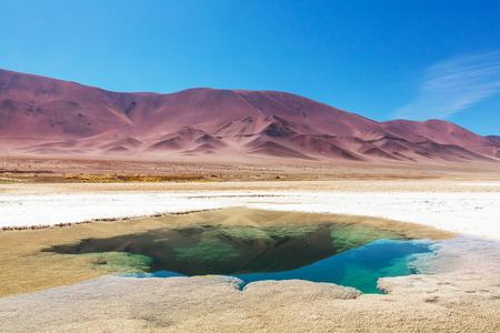 Ojo del Mar in a salt desert in the Jujuy Province Argentina