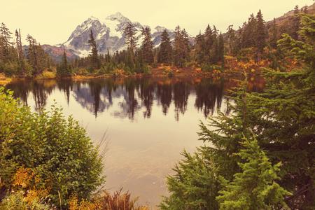 summit lake: Picture Lake and Mount Shuksan Washington