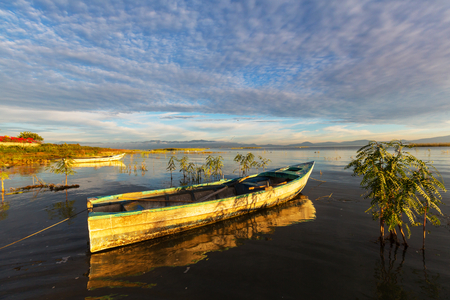 The fishing boats in Mexico Stock Photo
