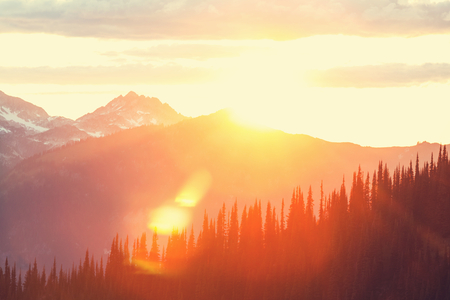 Sunset in mountains Stock Photo - 43878719