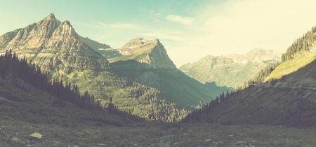 mountain landscape: Glacier National Park, Montana, USA