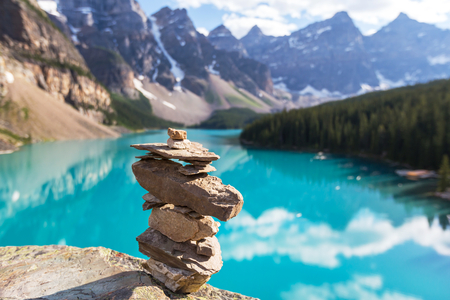 Beautiful Moraine lake in Banff National park,Canada Stock Photo
