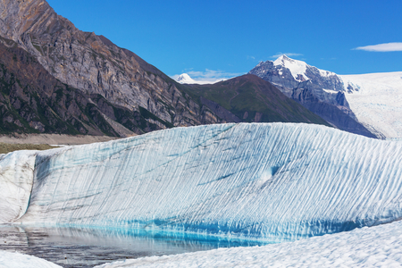 Lake on Kennicott glacier,Wrangell-St. Elias National Park, Alaska Imagens