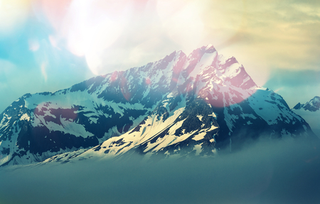 sunlight: Mountain peak