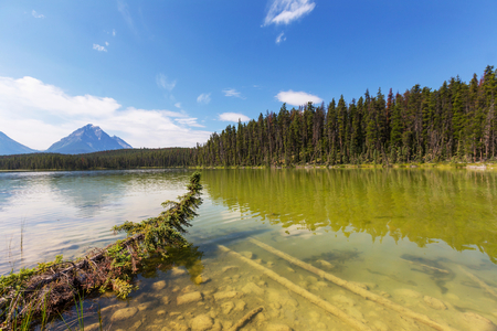 edith: Lake and Mount Edith Cavell in Jasper National Park, Canada