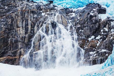icecaps: Glaciers in Alaska Stock Photo