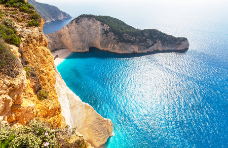beautiful scenery: Beautiful sea landscapes on Zakynthos Island in Greece