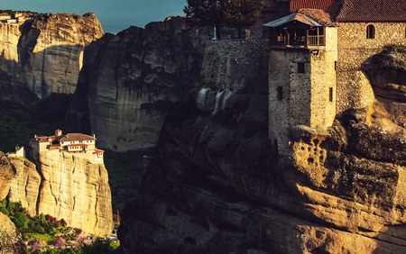monasteri: Meteora monasteries in Greece.Instagram filter.