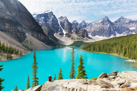 Mooie Moraine meer in Banff National Park, Canada