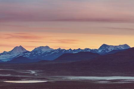 denali: Landscapes on Denali highway.Alaska.