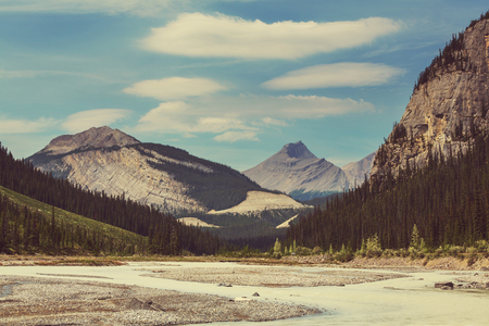 icefield: Canadian mountains Stock Photo