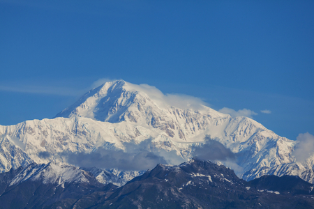 denali: Denali McKinley peak in Alaska, USA