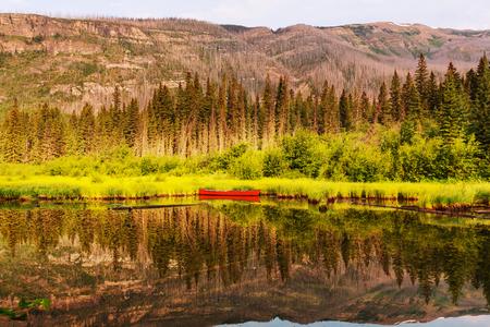 edith: Boats on the lake,Canada