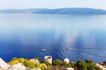 greece shoreline: Hydra Island, Greece Stock Photo