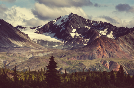 serene landscape: Mountains in Alaska