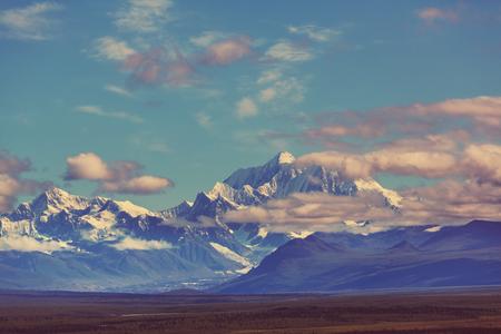 mckinley: Denali McKinley peak in Alaska, USA