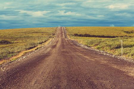 landschaft: Tundra Landschaft oberhalb Polarkreis Lizenzfreie Bilder