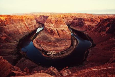 bends: Horse Shoe Bend Stock Photo