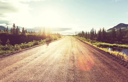 paisagem: Paisagens na rodovia Denali, Alaska.