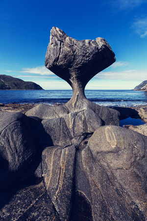 rock formations: Unusual stone in Norway Stock Photo