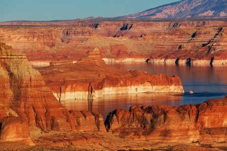 gunsight: Lake Powell. Alstrom point. USA. Stock Photo