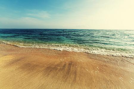 filters: Beautiful ocean beach, instagram filter Stock Photo