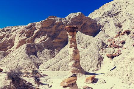 hoodoos: Toadstool hoodoos in the Utah desert, USA.