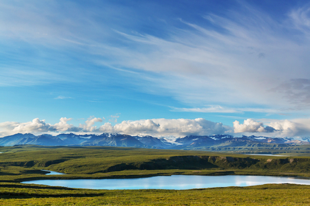 serene landscape: Landscapes on Denali highway, Alaska. Instagram filter.
