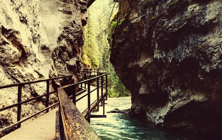 banff: Johnston Canyon in Banff NP, Canada