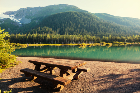 serenity: Serenity lake in Alaskan tundra