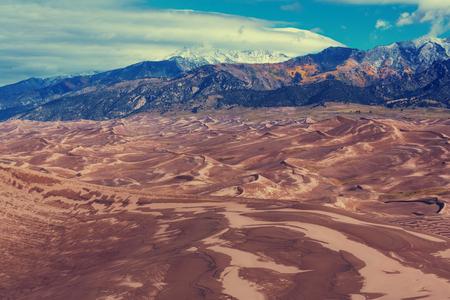 duna: Gran dunas del Parque Nacional, Colorado, EE.UU.