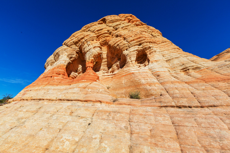 formations: Sandstone formations in Utah, USA. Stock Photo