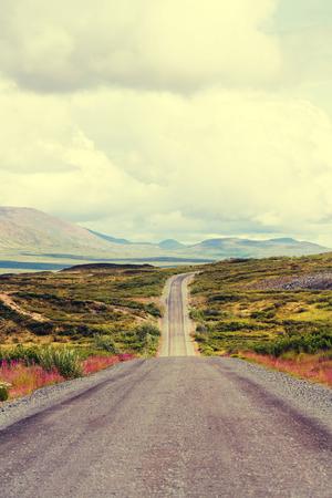 backwoods: highway on Alaska