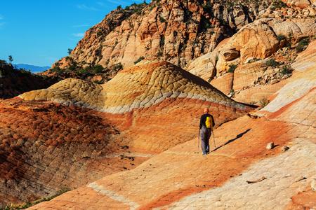 grandiose: Sandstone formations in Utah, USA. Stock Photo